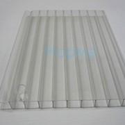 Поликарбонат сотовый 12000х2100х25 прозрачный фото