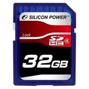 Карта памяти Silicon Power 32Gb SDHC class 4 (SP032GBSDH004V10) фото