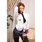 Пиджак жатый рукав (белый) LP-182 фото