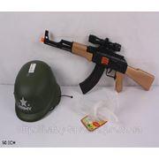 Игр Военный набор 5011A (72шт/2) автомат + каска, пакет 50 см (шт.) фото