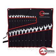 Набор ключей комбинированых Intertool полотно 25шт. (6-32мм) / CrV фото