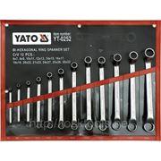 Набор ключей накидных изогнутых 12st 6-32мм YATO-0252 фото