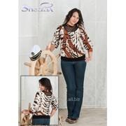 Блуза 1506 Ремни цвет фото