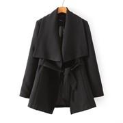 Пальто с отложным воротником мп7332 фото
