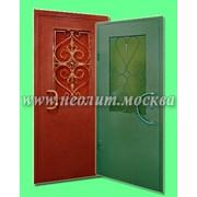Металлическая дверь модель Гелиос фото