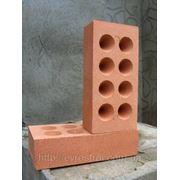 КР14 Кирпич рядовой полнотелый керамический, конус, одинарный, М125, Пуст-сть 8,6% фото