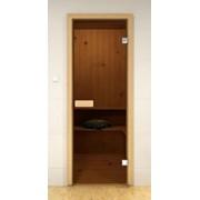 Стеклянные двери для сауны и бани Pal 80x190 (бронза) фото