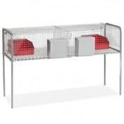 Клетка для кроликов двухсекционная 508А фото