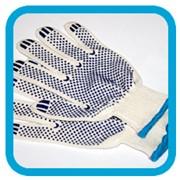 Рабочие перчатки с ПВХ напылением фото