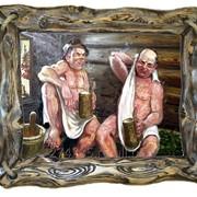 """Картина для бани """"Душевное общение"""" фото"""