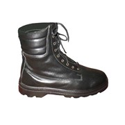Ботинки мужские кожаные с мягким кантом и высокими берцами на формованной подошве модель: 002АВ фото