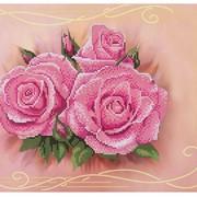 Схема для частичной вышивки бисером Нежные розы фото