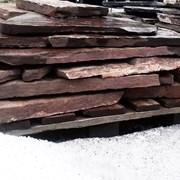 Песчаник бордовый 1,5-3 и 3-5 см, м2 фото