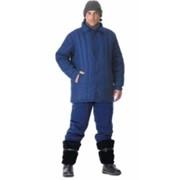 Куртка утеплённая (диагональ, 2,6 кг ваты) тёмно-синяя фото