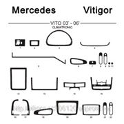 Mercedes VITO 03' - 06' CLIMATRONIC Карбон, карбон+, алюминий фото