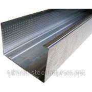Профиль для гипсокартонных конструкций C-75 (CW-75) 3 м.п. - Оцинкованный, толщина 0,40 фото