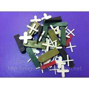 Крестики для плитки и кафеля от 1 до 6mm и клинья монтажные от 5 до 12mm фото