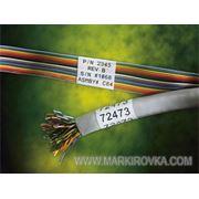 Плоские кабельные маркеры Brady фото