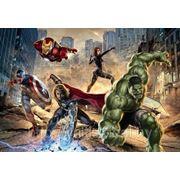 Детские фотообои на стену Мстители Komar 8-432 Avengers Street Rage фото