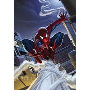 Детские фотообои на стену Человек-Паук на крыше Komar 1-424 Spiderman Rooftop фото