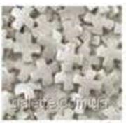 """Посыпка ТМ""""Украса""""перламутровые крестики серебро 7г (код 01849) фото"""