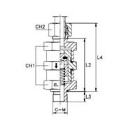 Обратный клапан с наружной резьбой Тип: 5004.. кольцо B3 фото