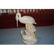 Аист и лягушка30см. фарфор фото