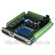 Интерфейсная плата ЧПУ LPT на 5 осей разъем под информационный дисплей 4 реле фото