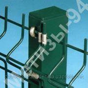 Столб для забора из профильной оцинкованной трубы с полимерным покрытием 40х60х2,0 мм высотой 2,0 м фото