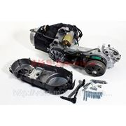 Двигатель скутерный в сборе 150куб (длинный вариатор) фото