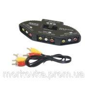 3х канальный RCA свич селектор AV переключатель, купить фото