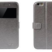Чехол-книжка iphone 6 / 4,7 серый фото