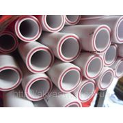 Труба со стекловолокном белого цвета PN 20 д.25 фото