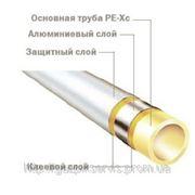 Труба многослойная РЕ-Хс-AL-РЕ (95°С) 20мм (штанга 5м) фото