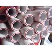 Труба со стекловолокном белого цвета PN 20 д.32 фото