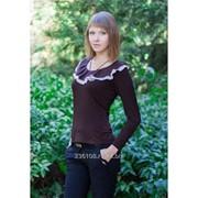 Блуза 1598 Коричневый цвет фото