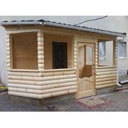 Постройки из оцилиндрованного бревна ганок предбанник деревянный дом фото