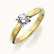 Помолвочные кольца из желтого золота фото