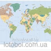 """Фотообои """"Worldmap"""" 127х184 1-617 2000000404950 фото"""