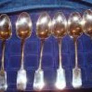 Набор столовых ложек,серебро,вес 350 гр.-6 фото