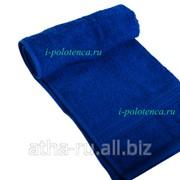 Простынь махровая, без бордюра (Синий) фото