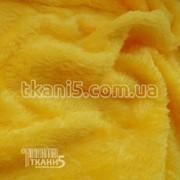 Ткань Махра (велсофт) желтый 5448 фото