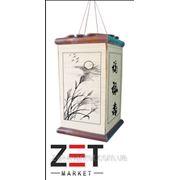 Светильник квадратный с разными картинками бамбук плетенный 18*18*H31 опт