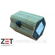 Шкатулка плетённая из бамбука 6-ти угольная 7.5*5.5*Н6 опт фото