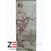 Панно из бамбука с рисунком плетенное 35*90 опт фото