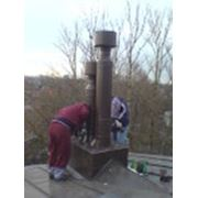 Ремонт промышленных дымовых труб и газоходов фото