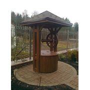 Колодцы деревянные, срубы для колодцев,колодцы из дерева. фото
