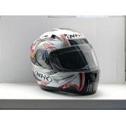 Шлем мотоциклиста NHK N1200 ZION черно-красный продажа в Украине