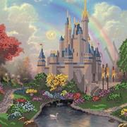 Схема для вышивки бисером Сказочный замок КМР 3133 фото