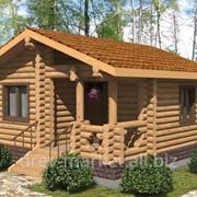 """Проект недорогого садового дома из калиброванного бревна """"Солнечный"""" фото"""